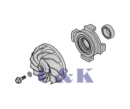 Turbínka s těsněním oběhového čerpadla - komplet Zanussi 138ZN04