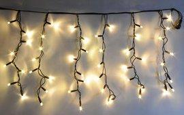 Vánoční LED jiskřící závěs ZJ-LED-200 TB PROFI teplá bílá, 200 VELKÝCH LED