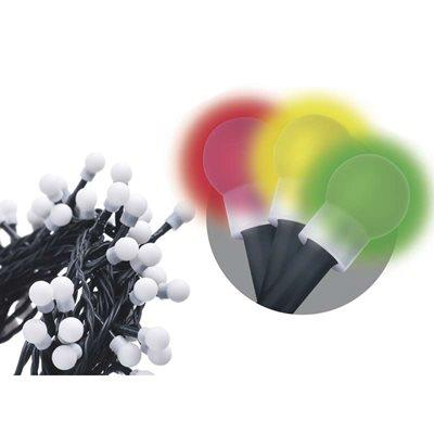 Vánoční osvětlení Emos 200 LED - kulička 20M multicolor, časovač ZY0912T