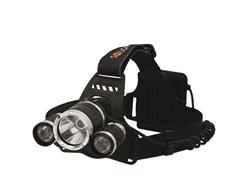 Čelová svítilna Solight LED SUPER POWER, 900lm, 3x Cree LED, 4x AA WH23