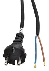 Flexo šňůra Solight 5m, 2 x 1.5mm2, gumová, černá PF33