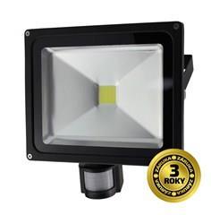 Venkovní reflektor Solight LED, 50W, 3500lm, AC 230V, černá, se senzorem WM-50WS-E
