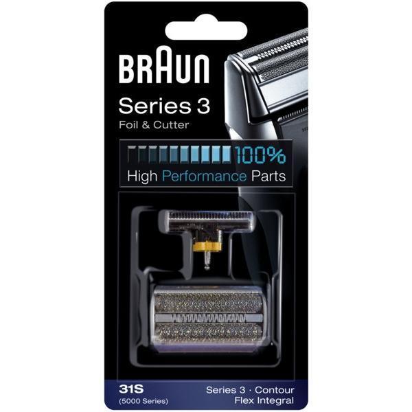 Planžeta / fólie / + břit do holícího strojku Braun FlexIntegral - 31S stříbrný