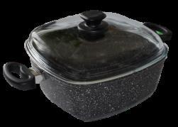 Bravo titanový hrnec B-5145 se skl. poklicí