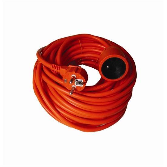 Solight prodlužovací kabel - spojka, 1 zásuvka, oranžová, 30m PS08