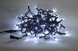 Vánoční LED jiskřící řetěz J-LED-200 PROFI studená bílá, 200 VELKÝCH LED