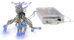 Vánoční osvětlení dekorativní řetěz LED Solight 3m, 20xLED, 3x AA, modré světlo, transparentní kabel 1V51-B