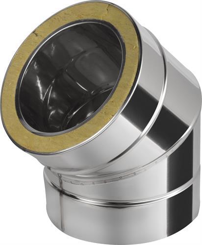 Koleno-nerez dvouplášťové 45°-150/220
