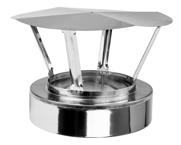 Stříška- nerez dvouplášťová 150/220 mm