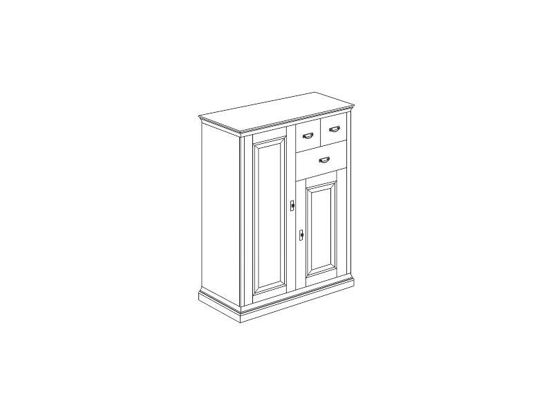 Komoda Country Inn Jitona 2 dveře, 3 zásuvky - DOPRAVA ZDARMA