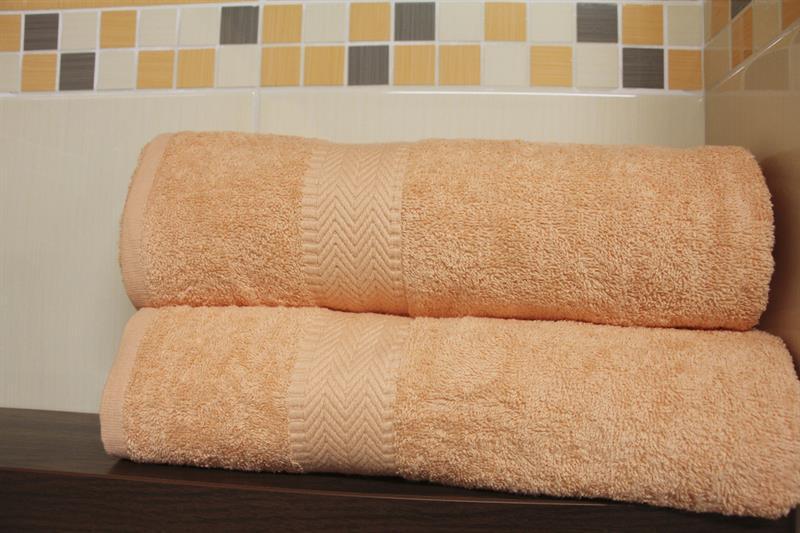 Froté ručník lososový 50x100 cm, 100% bavlna