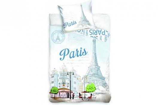 Bavlněné povlečení s fototiskem - Paris, 140x200 cm, 70x90 cm, 100% bavlna