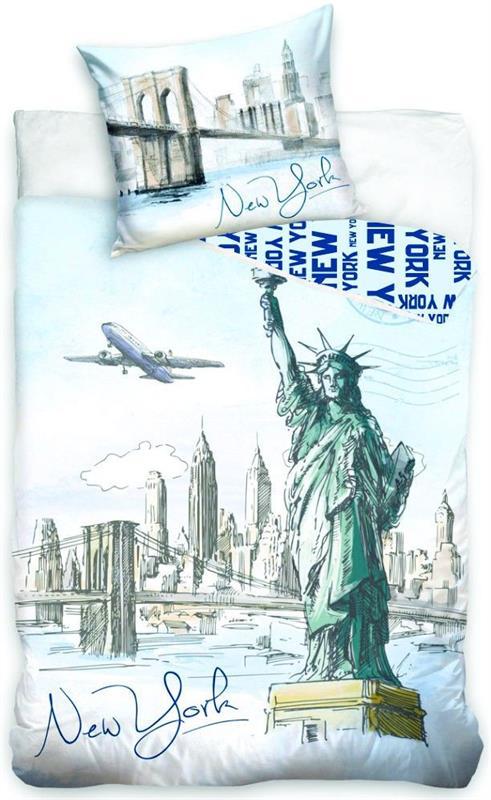 Bavlněné povlečení s fototiskem - New York, socha Svobody, 140x200 cm, 70x90 cm, 100% bavlna