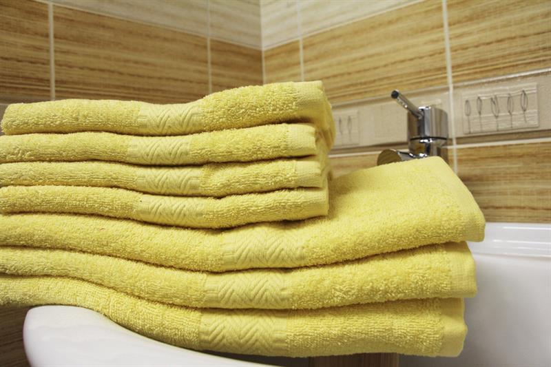 Froté ručník žlutý 50x100 cm, 100% bavlna