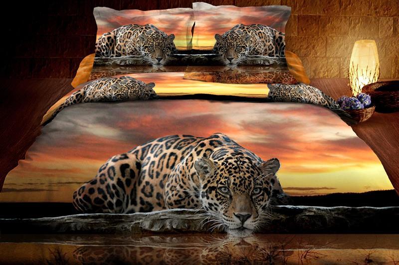Luxusní bavlněné povlečení Leopard 140x200 cm, 70x90 cm, 100% bavlna