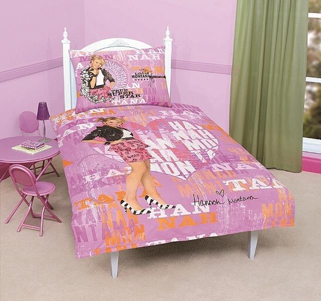 Bavlněné povlečení Hannah Montana 2, 140x200 cm, 70x90 cm, 100% bavlna