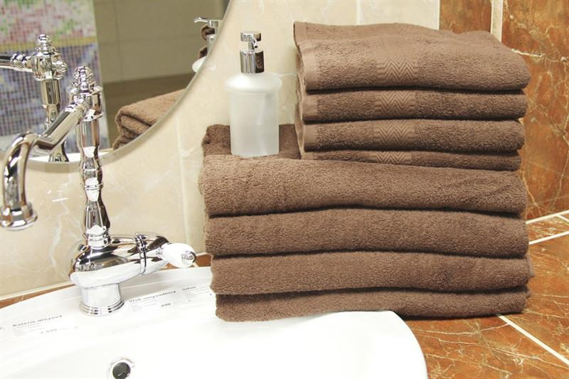 Froté ručník hnědá 50x100 cm, 100% bavlna