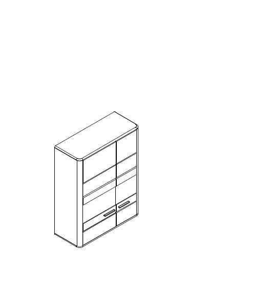 Závěsná vitrína Catano Jitona 2 dveře - AKCE