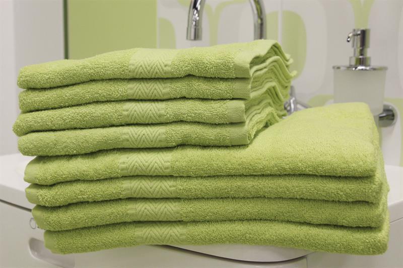 Froté ručník jarní zelená 50x100 cm, 100% bavlna