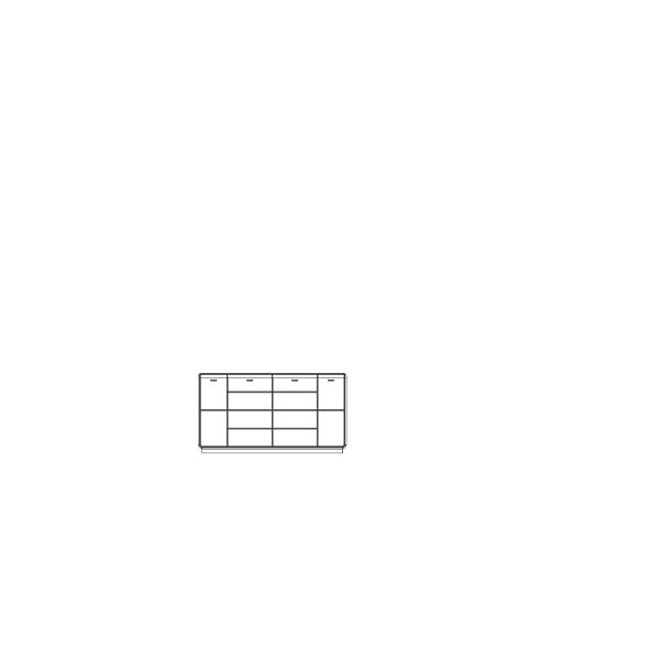 Komoda Medea Jitona 4 dveře - AKCE