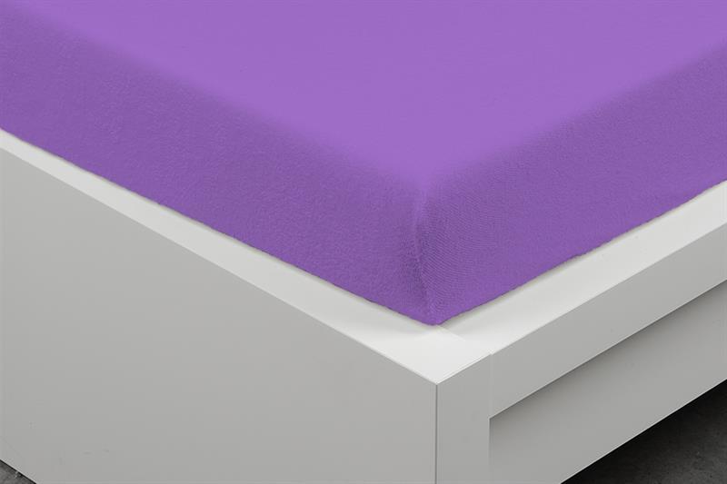 Prostěradlo Froté purple 180x200 cm