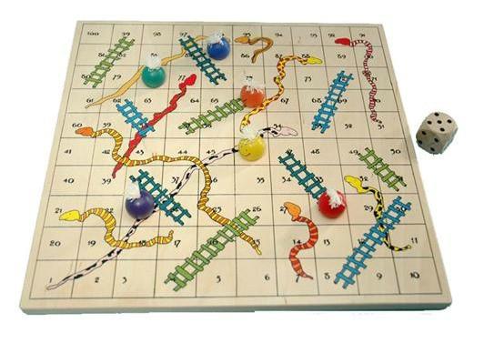 Hra hadi a žebříky