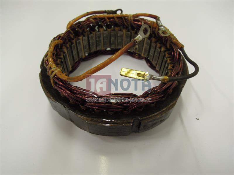 Stator alternátoru bez regulátoru, ŽIGULI, 4 vývody, 12V/42A, repasovaný