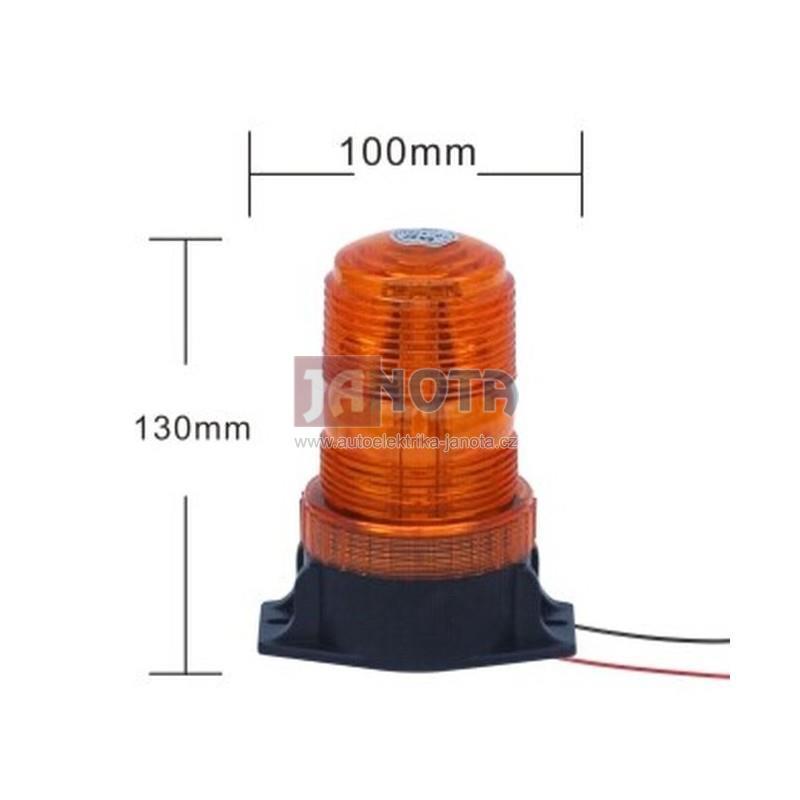 LED maják oranžový 10V - 110V R10