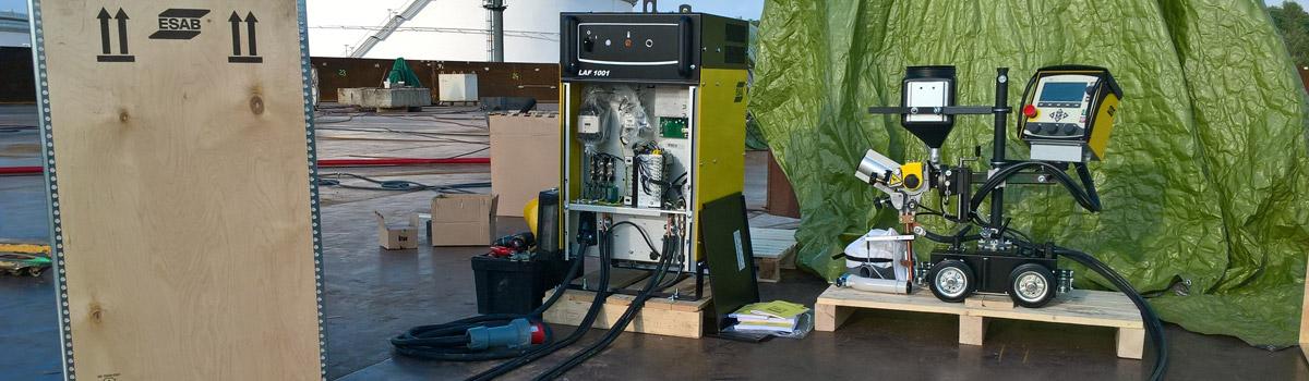 Dodání a nastavení svařovacího automatu pro svařování nádrže na ropu.