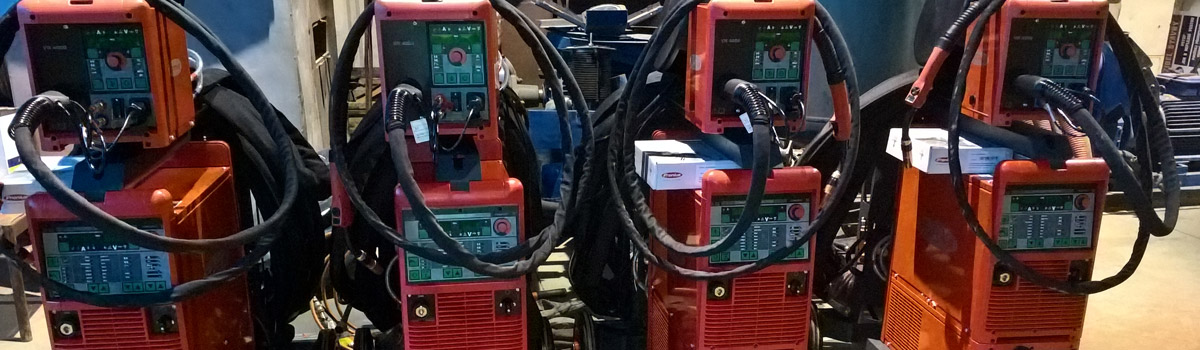 Dodání a kompletace  svař. zdrojů TransPulsSynergic 5000 s 20m propojem.