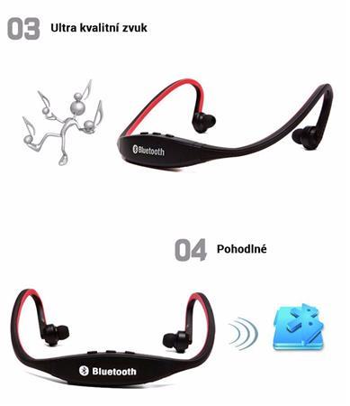 Sportovní bluetooth sluchátka s HANDSFREE