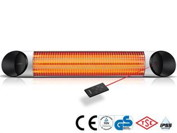 Infrazářič BLADE S se 4 stupni regulace výkonu : 1000 / 1500 / 2000 / 2500W. Rozměr 980 x 170 x 70 mm, hmotnost 3,0 kg. Vestavěný digitální termostat pro automatickou regulaci topného výkonu.
